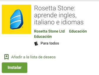 roseta stone app android