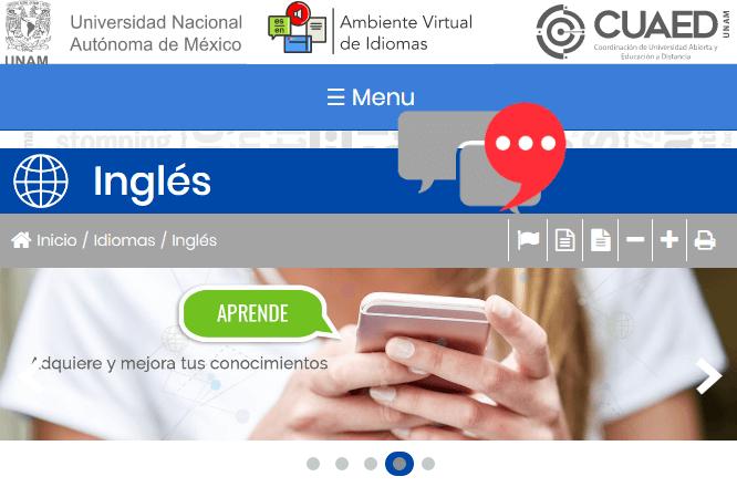 curso de inglés virtual de la UNAM